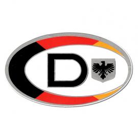 """Calcomania """"D"""" de DEUTSCHLAND"""