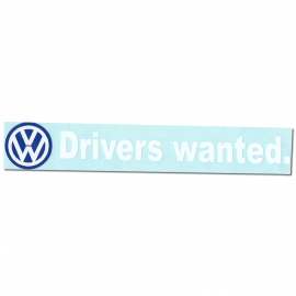 "Calcomania ""DRIVERS WANTED"" Blanca"