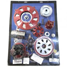Kit de Motor Cromado y Rojo