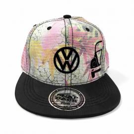 Gorra Escudo VW y Vocho (Tropical, Vicera Negra)