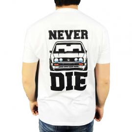 """Camiseta """"Classic/Never-Die"""" (Blanca)"""
