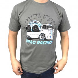 "Camiseta ""Drag Racing"" (Gris)"