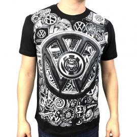 """Camiseta """"LOGOS VW"""" (Negra)"""