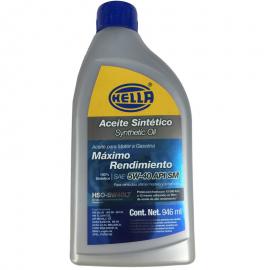 Botella de Aceite Hella 5W-40 Sintetico