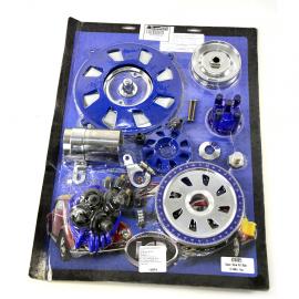 Kit de Motor Cromado y Azul